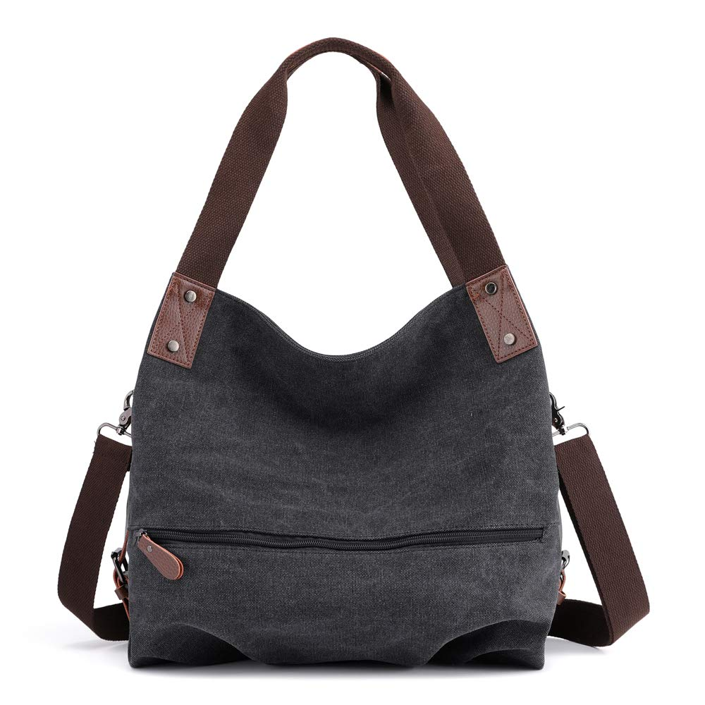 a98b81cd1786 Women's Casual Vintage Hobo Canvas Shoulder Bags Crossbody Tote Purse Work  Travel Shopping Handbag