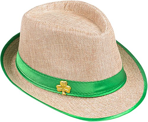 [Saint Patrick's Day Shamrock Fedora Costume Accessory Party Hat] (St Patrick The Saint Costume)