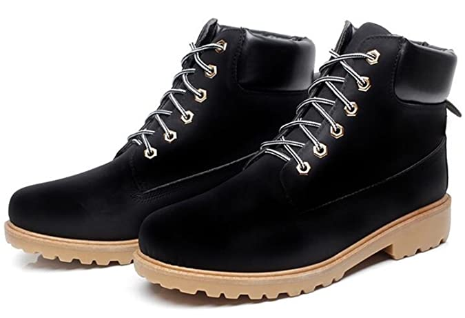 WUIWUIYU Unisex Men's Women's Lace-up Fashion Classic Ankle Boots With Two  Choices(Fur or No Fur): Amazon.co.uk: Shoes & Bags