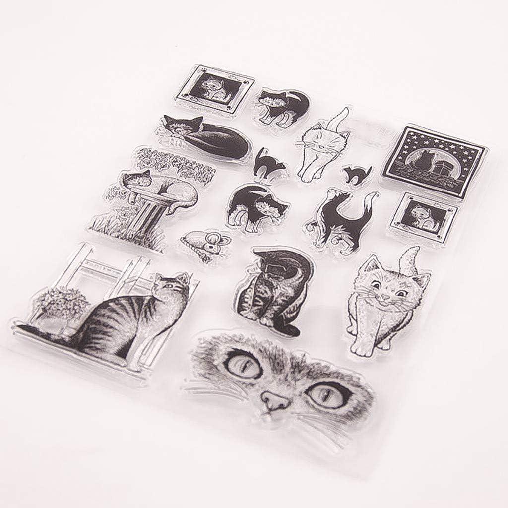 ️ Yu2d ❤️❤️ ️Transparent Stamp Silicone Seal DIY Clip Art Album Decoration 14/×18cm