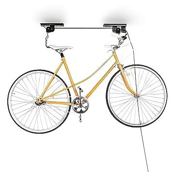 Relaxdays Support Vélo Rangement Vélo Plafond Garage Ascenseur Vtt