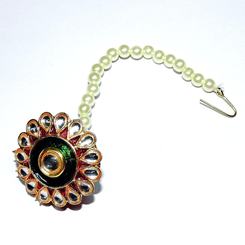 Buy Khushigems Pearl With Kundan Meena Work Gold Plated Rajputi ...
