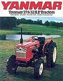 1982 Yenmar 27 & 33 HP Tractor Sales Brochure Japan