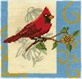 Janlynn 009-0204 Cardinal Needlepoint Kit-6''X6''