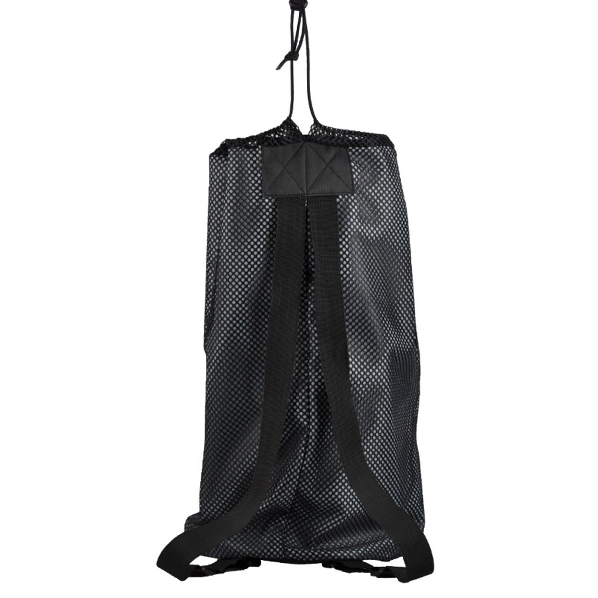 WINOMOスポーツボールバッグ巾着メッシュバックパックボールホルダーバッグのバスケットボールフットボールバレーボール(ブラック) B075XN34FY