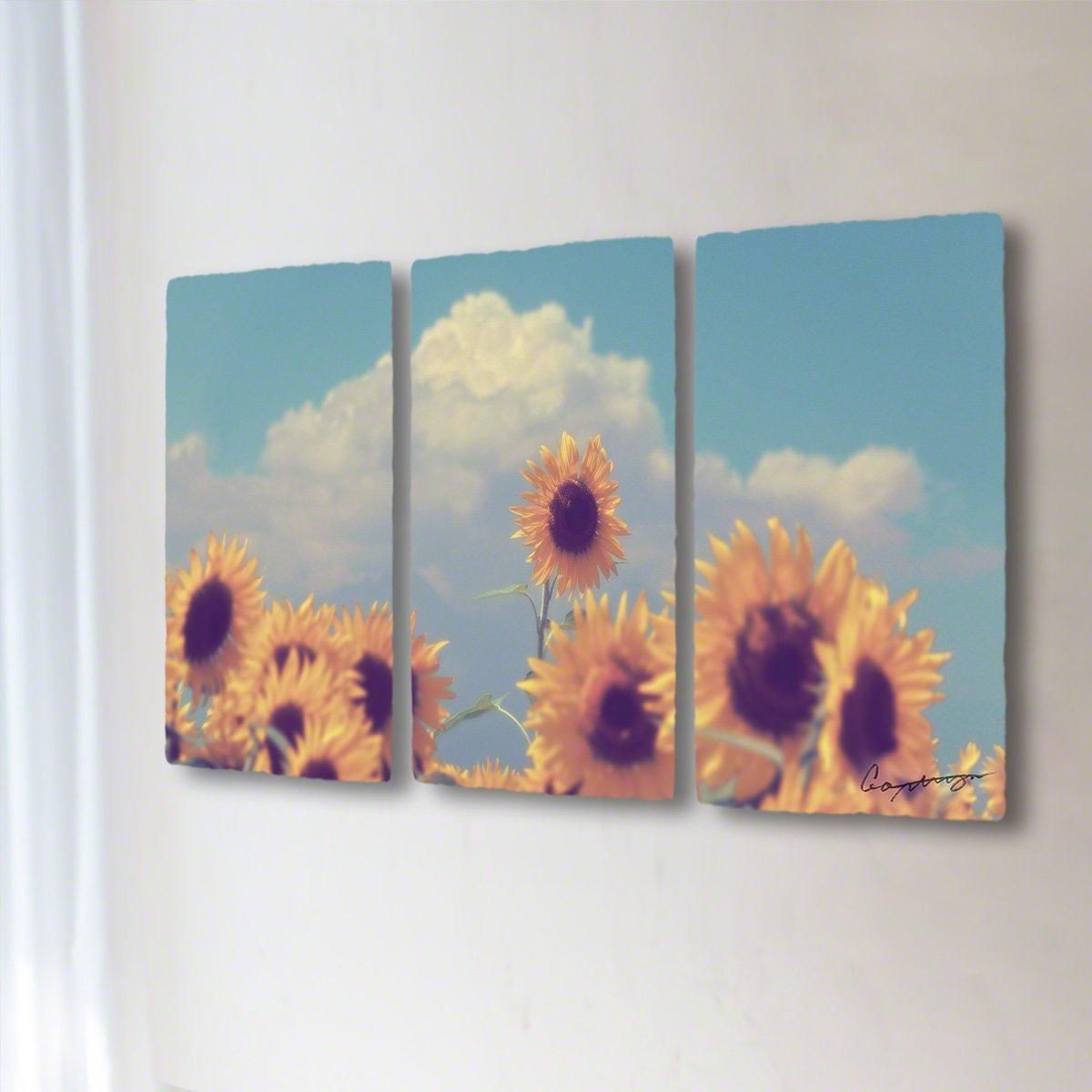 和紙 アートパネル 3枚 続き 「入道雲と顔を出したヒマワリの花」 (64x36cm) 花 絵 絵画 壁掛け 壁飾り インテリア アート B07F1X1C3H 32.アートパネル3枚続き(長辺64cm) 24800円|入道雲と顔を出したヒマワリの花 入道雲と顔を出したヒマワリの花 32.アートパネル3枚続き(長辺64cm) 24800円