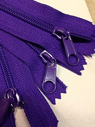 LOT of 10 Long Pull Handbag Zippers 14