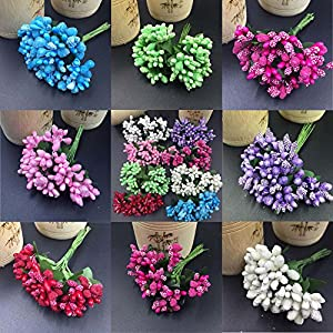 CANAFA-Home & Kitchen Artificial Flowers 12Pcs / Lot Mulberry Party Artificial Flower Stamen Wedding Leaves Decoration 36