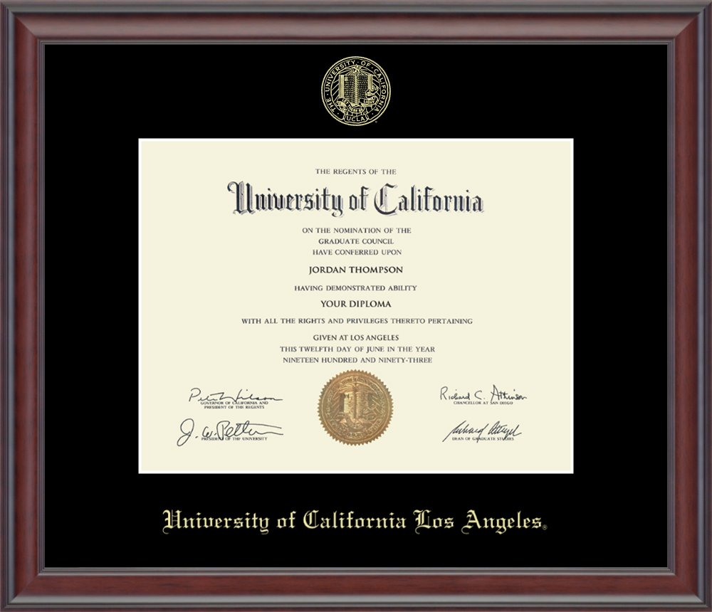 "Officially Licensed By Church Hill Classics Solid Hardwood /""Studio/"" Moulding UCLA Gold Embossed Diploma Frame 8.5h x 11w Diploma Size"