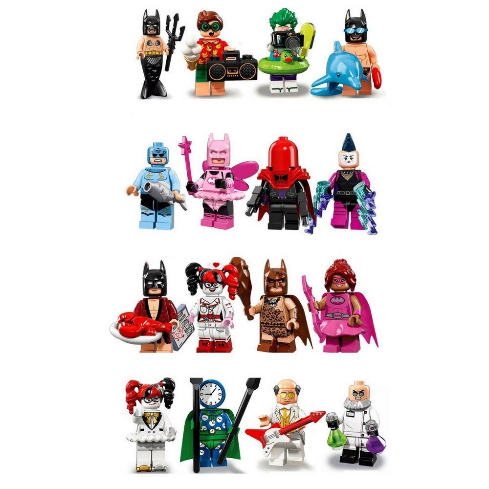 Dream Blocks Batman Movie Themed Minifigure Set Fairy Lego 71017 Minifigures Series Box Of 60 Mermaid Harley Quinn Nurse Robin Joker Batgirl Toys Games