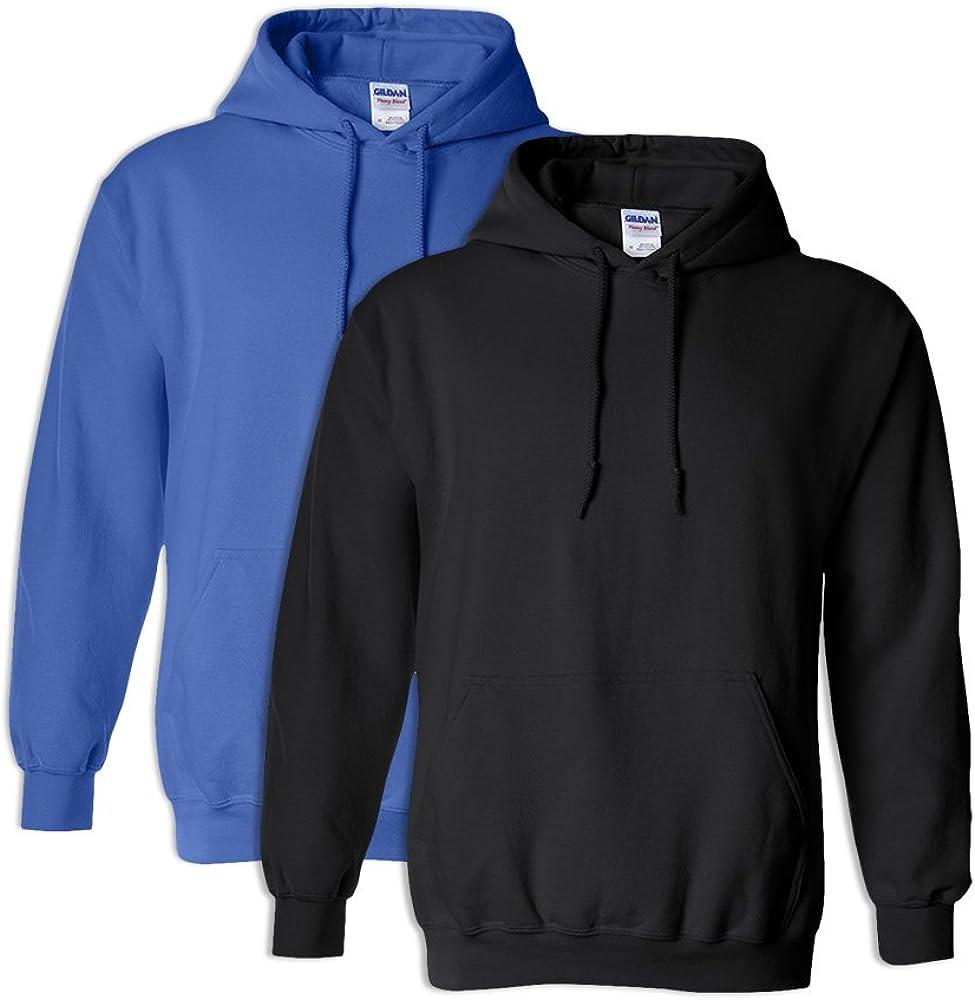 Gildan G18500 Heavy Blend Adult Unisex Hooded Sweatshirt 5XL 1 Royal 1 Black