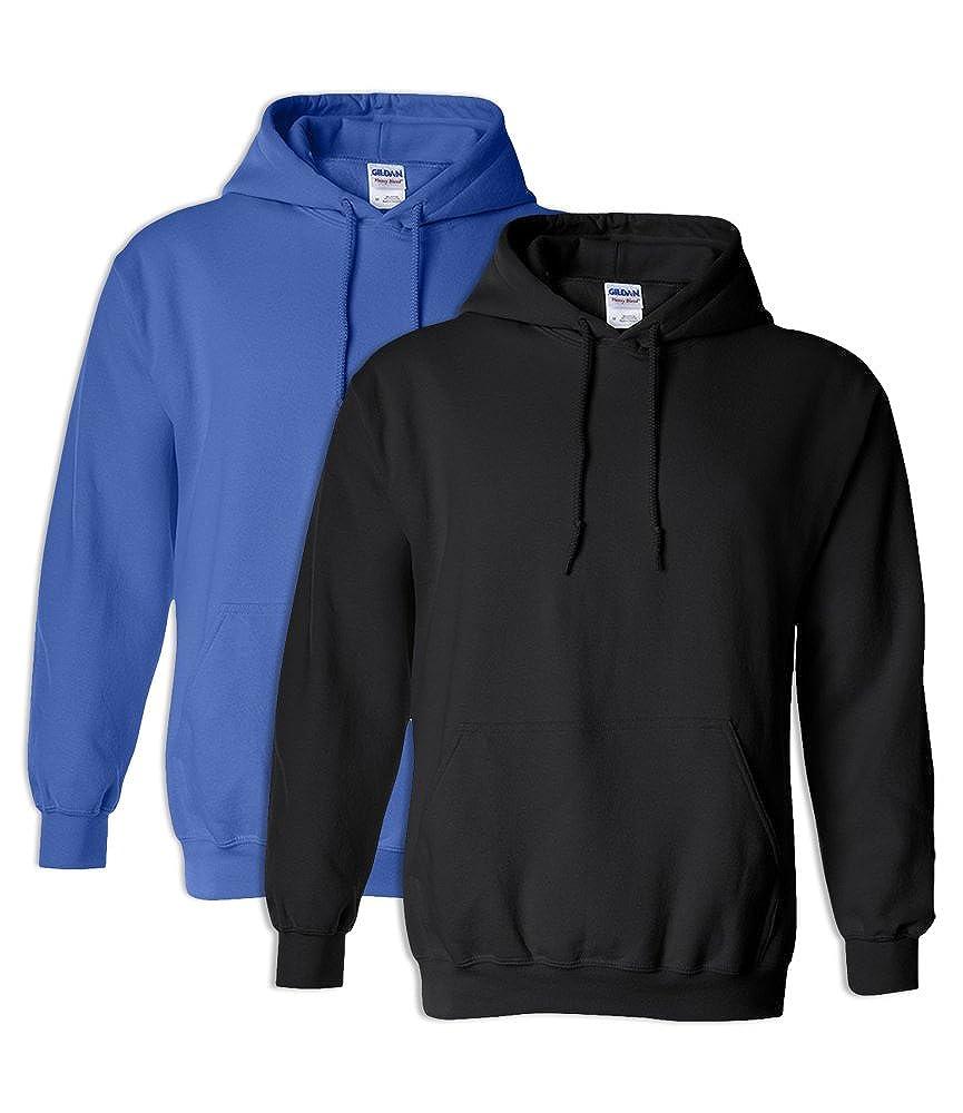 Gildan G18500 Heavy Blend Adult Unisex Hooded Sweatshirt S 1 Royal 1 Black