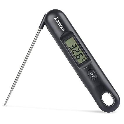 Ziroom Termómetro Cocina, termometro Carne Digital pincho BBQ Pantalla LCD, Apagado Automático, Apto