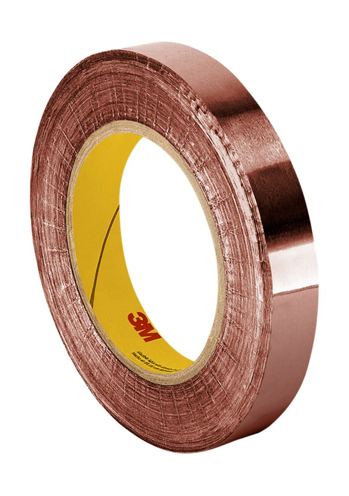 Cinta de Cobre 15mm x 16.5mt Adhesivo Conductor 3M