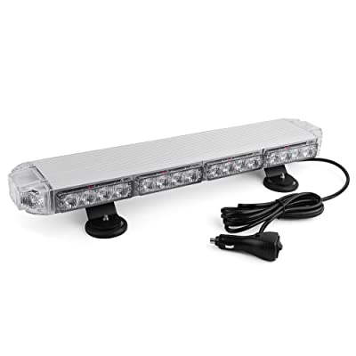 "Emergency Mini LED Light bar, YITAMOTOR 21"" 3 Watt Low Profile Magnetic Roof Mount Strobe Light Bar Compatible with All 12v Emergency Vehicle: Automotive"