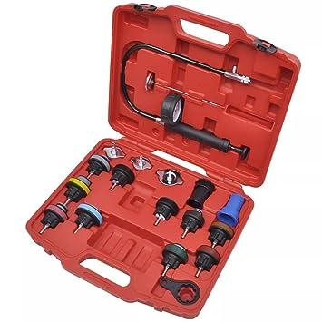 binzhoueushopping Kit para Probar,Hand Tools, la Presión del Radiador 18 Piezas: Amazon.es: Coche y moto