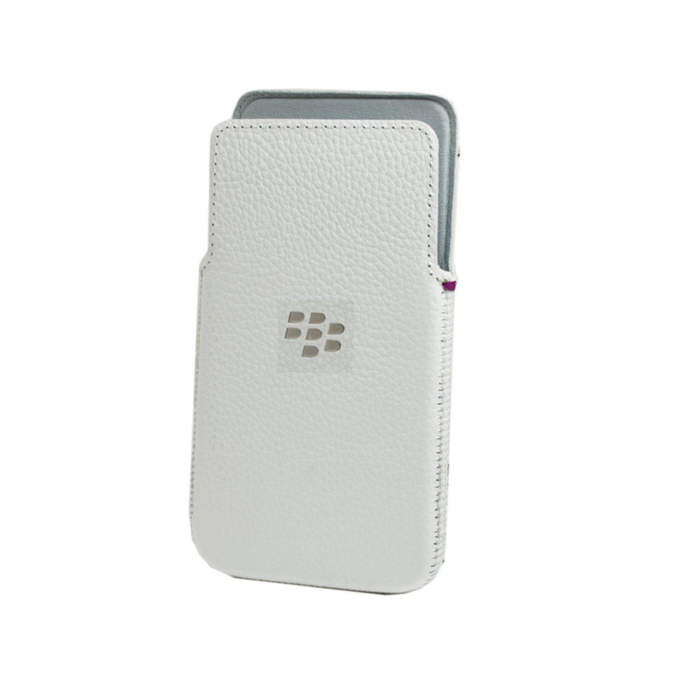 BlackBerry OEM Z30 White Leather Pocket
