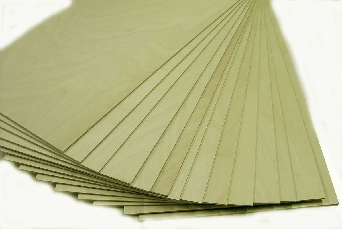1/8'' x 12'' x 24'' Baltic Birch Plywood NEW B/BB No Plugs 1 Face. Great For Laser, CNC, and Scroll Saw. 20pc by KenCraft Co Inc Hardwoods