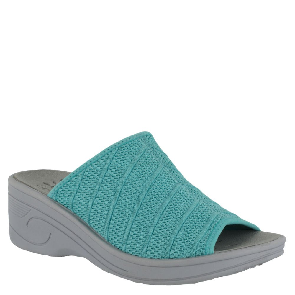 Easy Street 30-8320 Women's Airy Sandal B07C8LWXYW 6WW|Turquoise Stretch