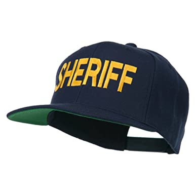 ee2f9f79362 E4hats Sheriff Embroidered Snapback Cap - Navy OSFM at Amazon Men s ...