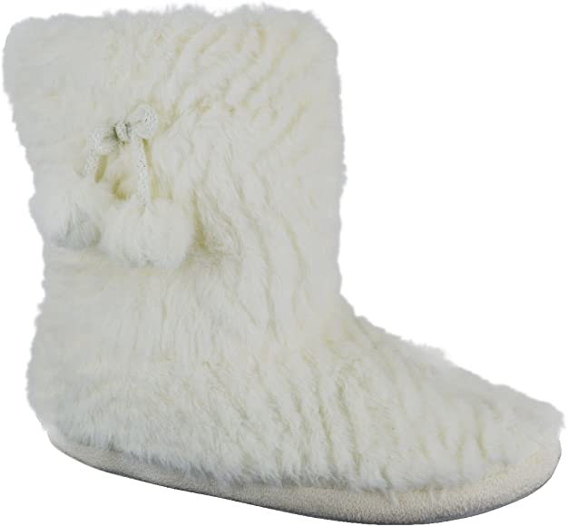 Ladies Wool Ankle Boots Slippers Soft