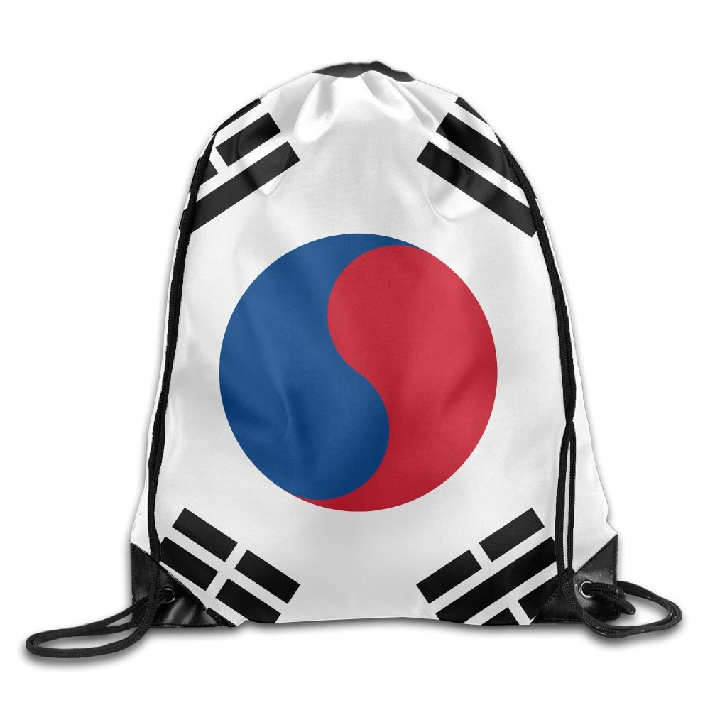 South Korean Flag Unisex Large Capacity Gym Drawstring Bunch Backpack Young Bags Travel Tote School Rucksack