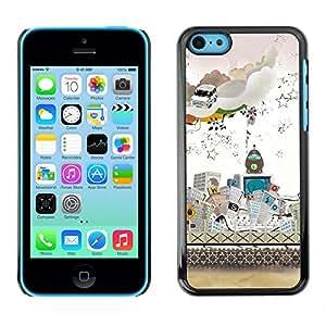 Competir En La Ciudad Moderna - Metal de aluminio y de plástico duro Caja del teléfono - Negro - iPhone 5C