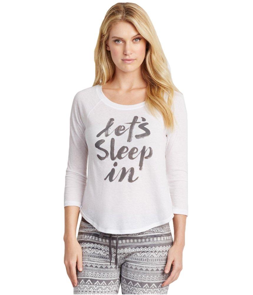 Aeropostale Womens Let's Sleep In Pajama Sleep T-shirt 102 XS