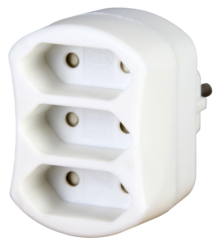 Kopp 471302003 Adapter 3-fach, weiß weiß