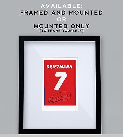 ANTOINE GRIEZMANN/atlético de Madrid 2015 2016 10 x 20,32 cm con diseño firmado autógrafos ...