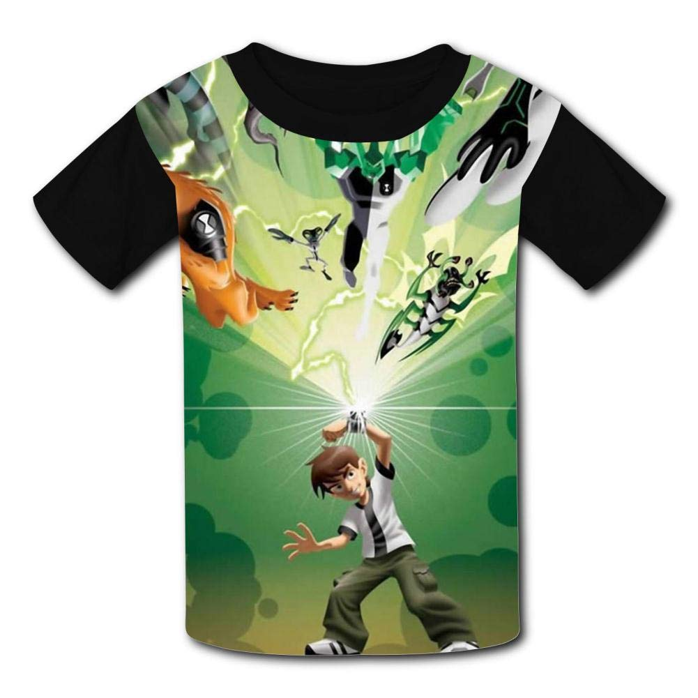 Cool Ben-10 Kids T-Shirts Short Sleeve Tees Summer Tops for Youth//Boys//Girls