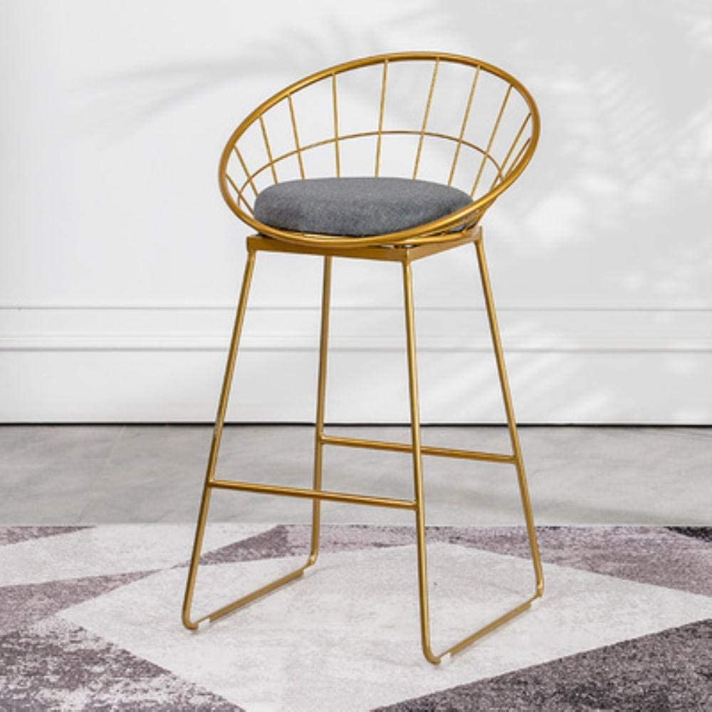 Cula Bar Stool Chairs High Chair Simple Wrought Iron Bar Chair Gold Stool Dining Chair Leisure Bar Table Stools,B5-H65cm A2-h45cm