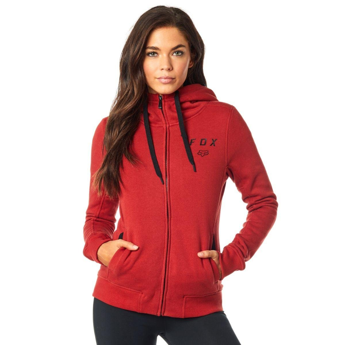 Fox Racing Women's Outbound Sherpa Fleece Hoody Zip Sweatshirts Medium Rust 19651-180-M