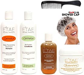 Etae Carmelux Shampoo Conditioner Etae Carmel Treatment Buttershine Natural Products Ultimate Bundle Combo Kit