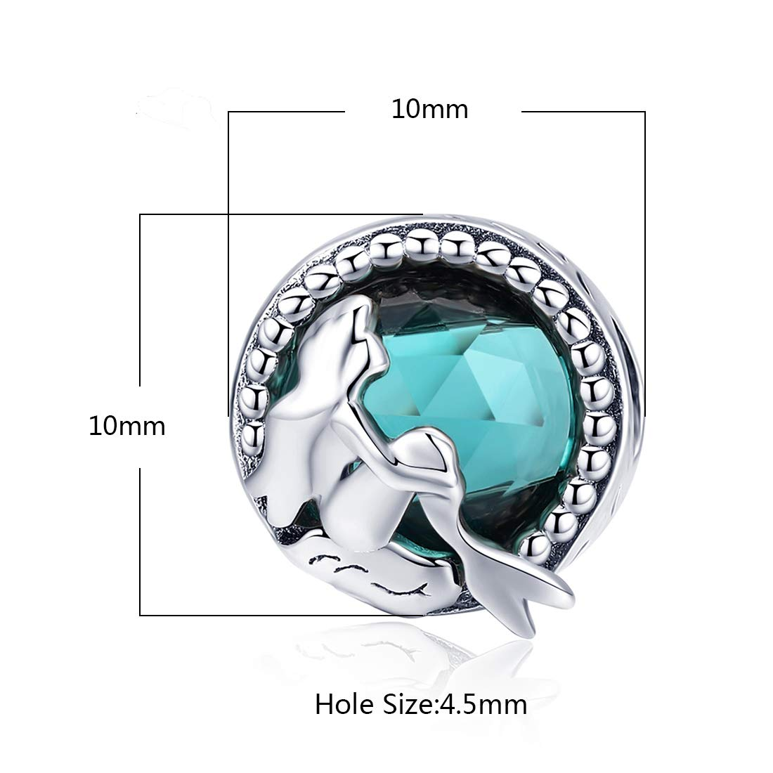JIAYIQI 925 Sterling Silver Charm Bead Love Heart in Your Hands Charm for European Bracelets Necklace