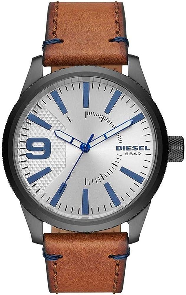 Reloj DIESEL Raspel NSBB de Tres Agujas en Cuero marrón DZ1905