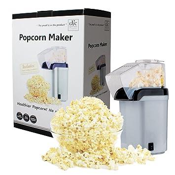 Great Value Company - Palomitera (1200 W, incluye compartimento para derretir mantequilla), color plateado: Amazon.es: Hogar