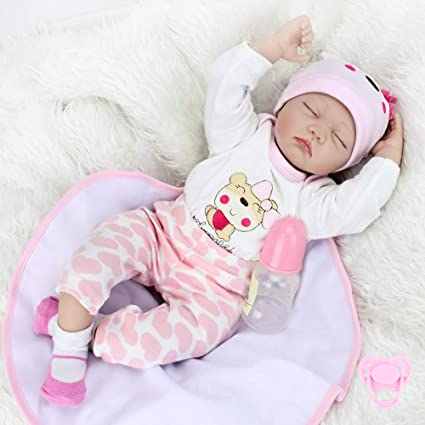 18/'/' Pink Hooded Nightwear Doll Clothes Newborn Reborn Baby Girl Dolls Gift