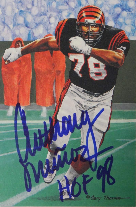 298b6b2761b Anthony Munoz Autographed Cincinnati Bengals Goal Line Art Card W HOF- JSA  W Auth Blue at Amazon s Sports Collectibles Store