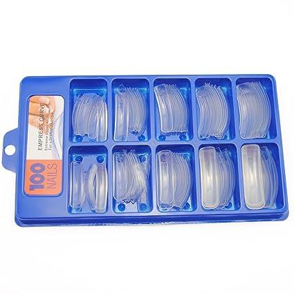 Saint-Acior Uñas Postizas de Manicura 100piezas Puntas de Uñas de Manicura Uñas Falsas UV