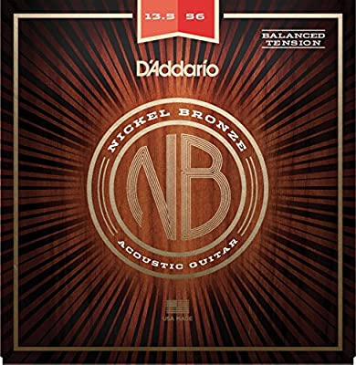 DAddario NB13556BT Juego Cuerdas Guitarra Acústica, Set de 6 ...