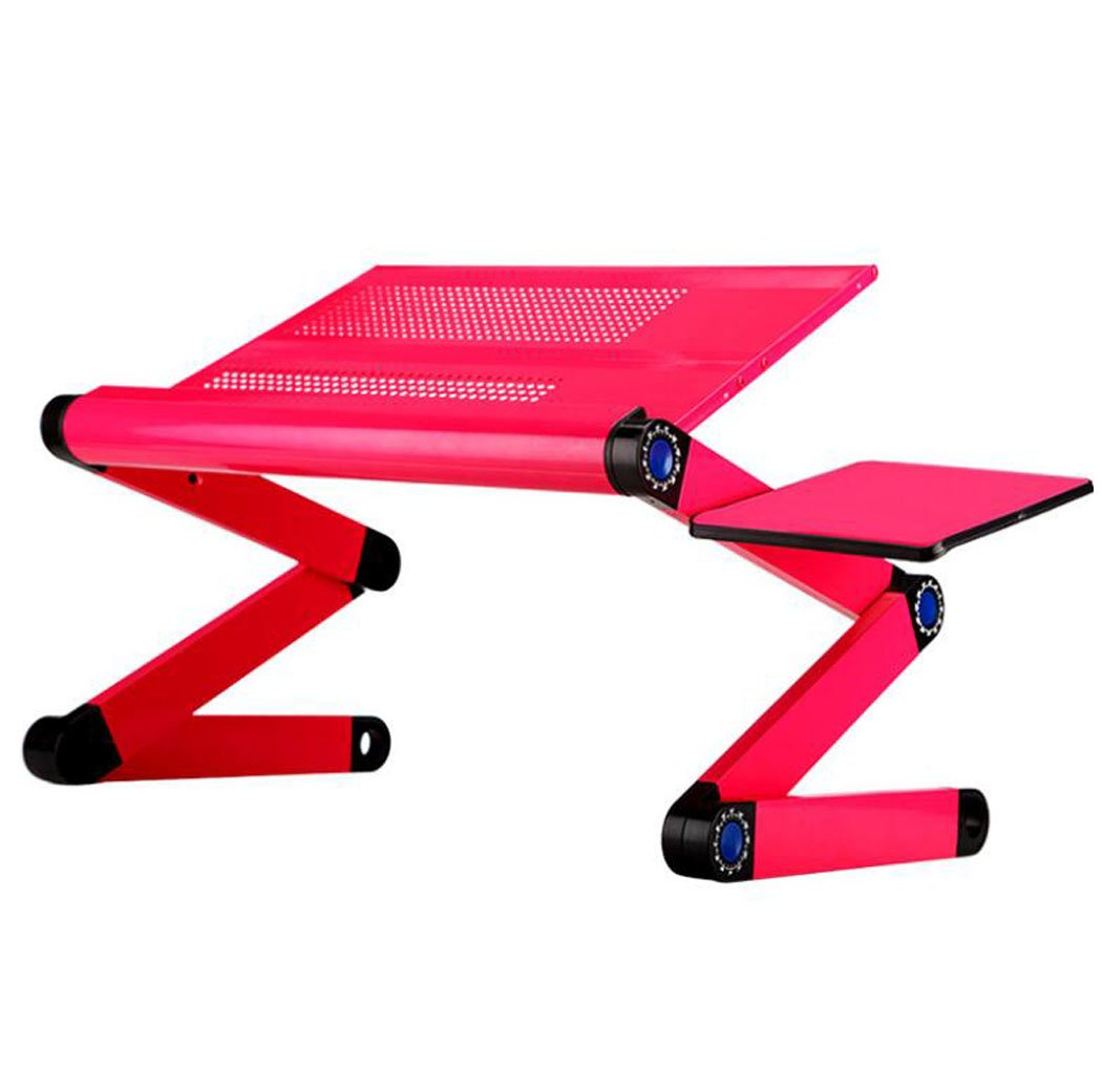Hhdd Portable Laptop Desk 360° Laptop Stand Can Adjust Height Desktop Bed Tray PC Laptop Desk (with Fan) (Design : 480)