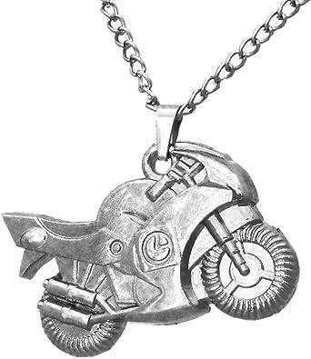 collier homme pendentif moto