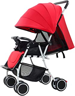 Meen Baby Stroller, Lightweight Portable with Stroller Can Sit Reclining Folding Stroller (Color : Blue)