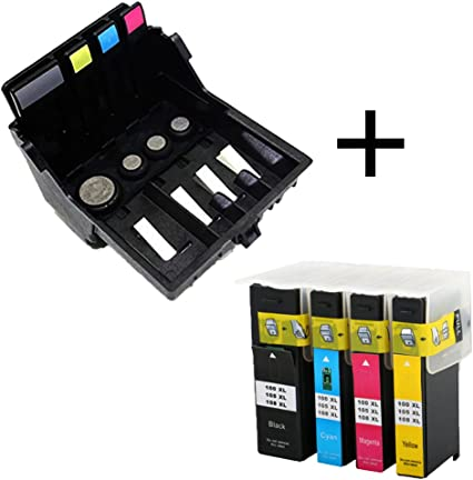 Caidi 14N1339 - Cabezal de impresión + Cartuchos de Tinta para ...