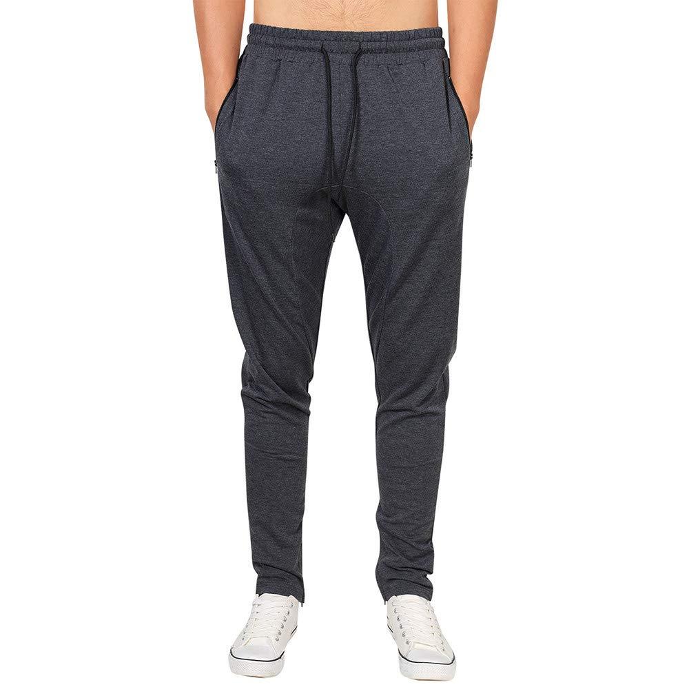 Molyveva Men Casual New Sweatpants Zipper Pocket Runing Sport Trousers Jog Pant by Molyveva Men Pants