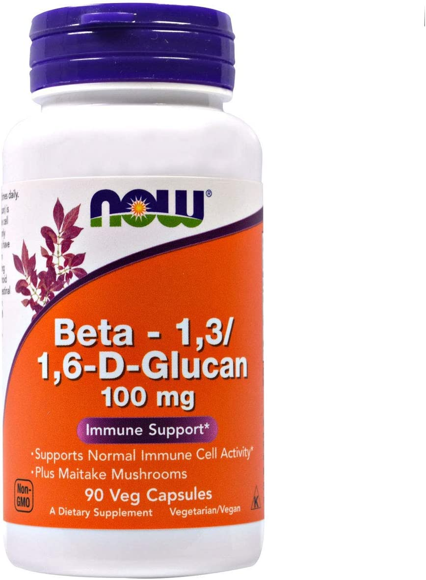 NOW FOODS Beta 1.3 1.6 Glucan 90vc, 90 CT
