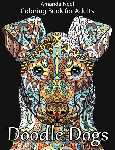 Grown Up Color Books Doodle Dogs Coloring Book For Adults