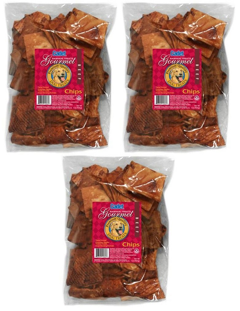 (3 Pack) IMS Trading 10062-16 Beef Rawhide Chips for Dogs by IMS Trading
