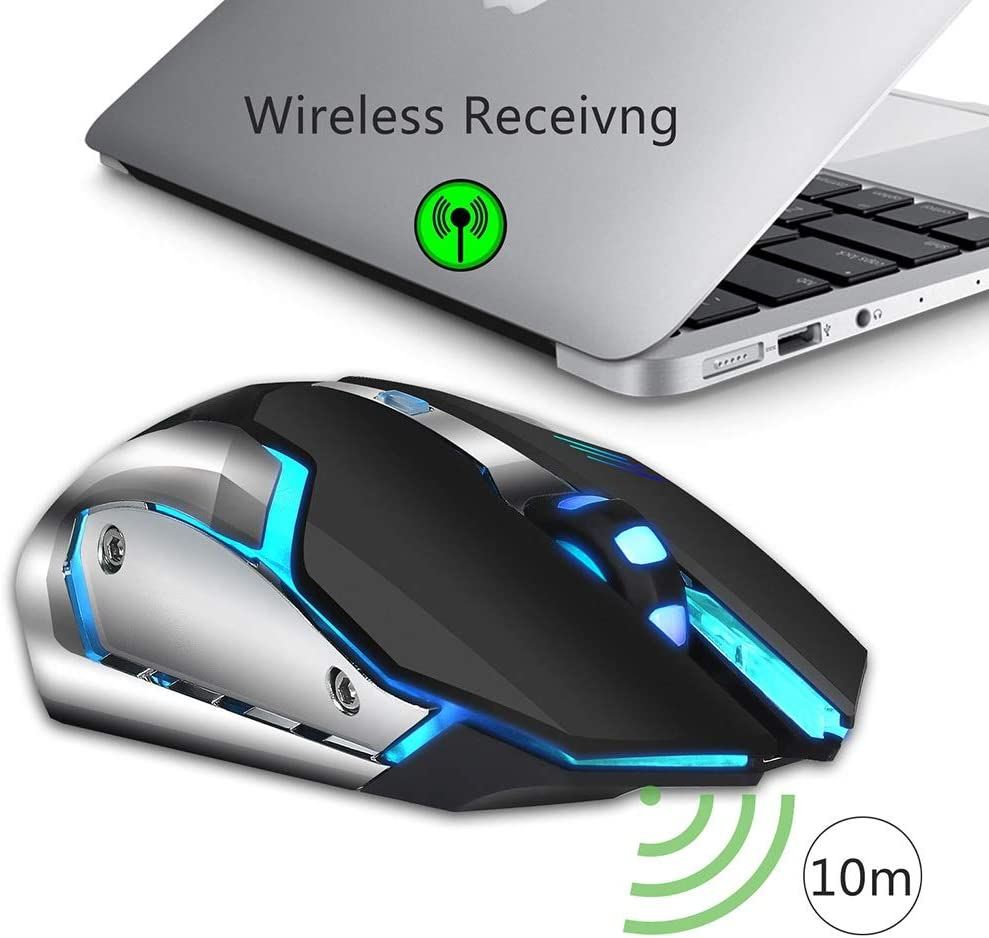 BGXXL Mouse Rechargeable Wireless Gaming Mouse 2.4G 10 Meters Transmission Distance Colorful Light 2400dpi